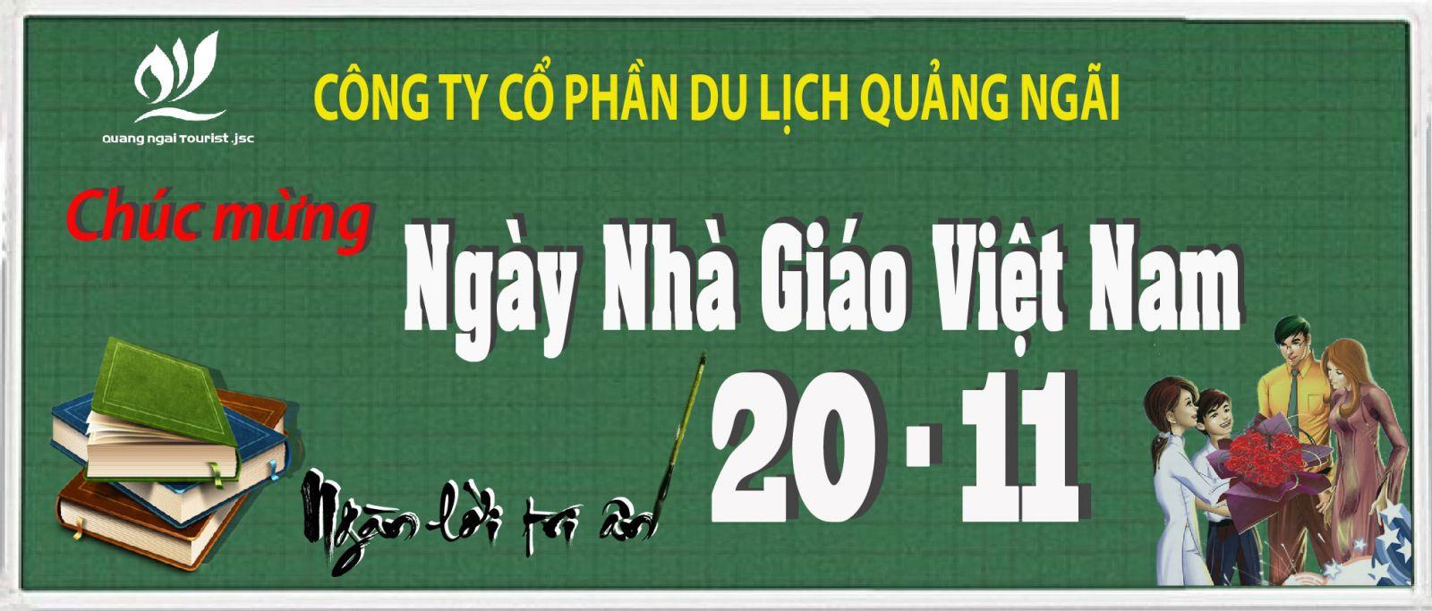 Tri ân ngày nhà giáo Việt Nam 20/11 - Quảng Ngai Tourist