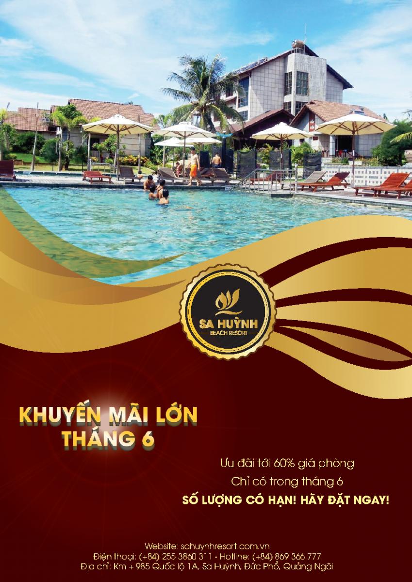 Chương trình khuyến mãi tháng 6 Khu du lịch Sa Huỳnh