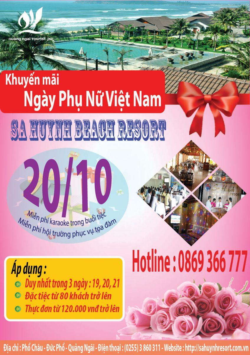 Khuyến mãi thuê hội trường tại Sa Huỳnh Beach Resort