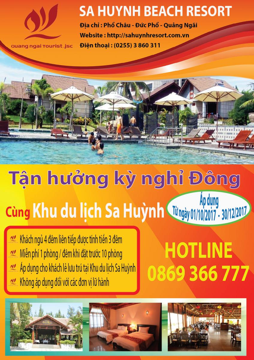 Chuong trinh khuyen mai dat phong tai Khu du lịch Sa Huỳnh